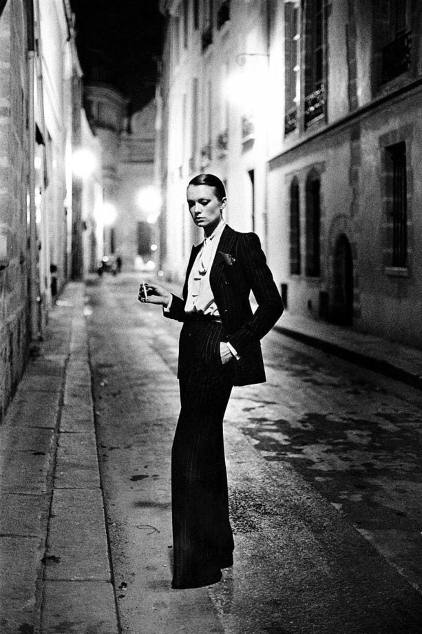 Helmut Newton's le Smoking image for French Vogue, 1975