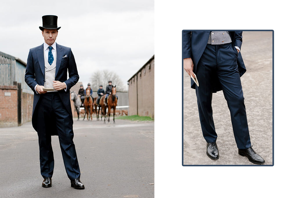 Royal Ascot collection by Favourbrook including the navy morning suit