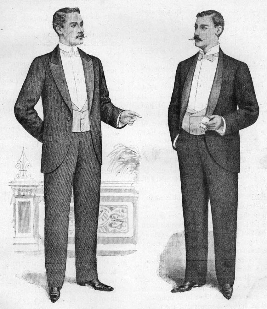 Black tie in 1898