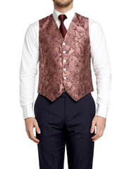 ROSE BOTANICS SILK SINGLE BREASTED 6 BUTTON WAISTCOAT