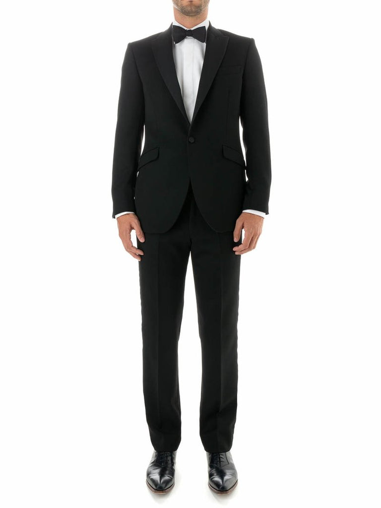BLACK HAMPTON BARATHEA WOOL DINNER JACKET