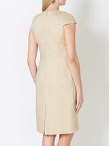 Philippa Dress Gold Plain Linen
