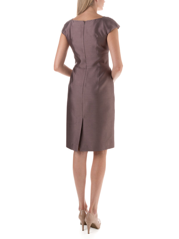 Bridgitte Dress Dried Lavender Connaught Silk