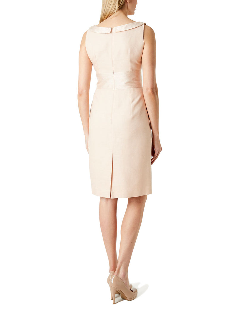 Alice Dress Blush Plain Tasar
