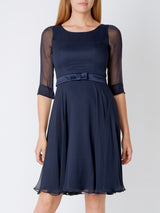 Serena Circle Dress Midnight Silk Georgette