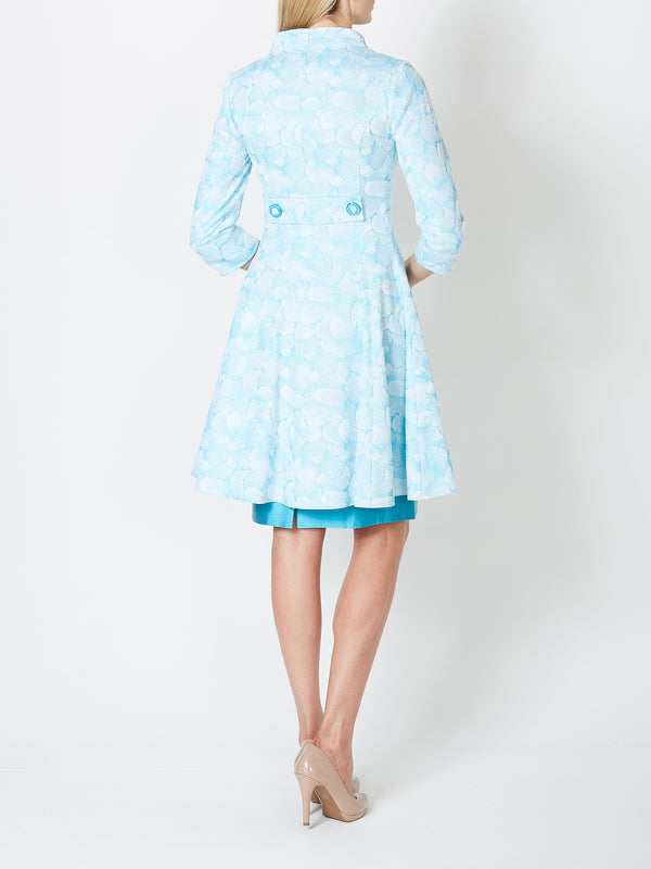 Therese Coat Azure Turbino Cotton