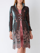 Westminster coat Fig Arden Silk Velvet