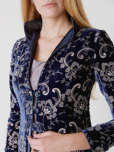 Royal Blue Tblisi Silk Velvet Westminster coat
