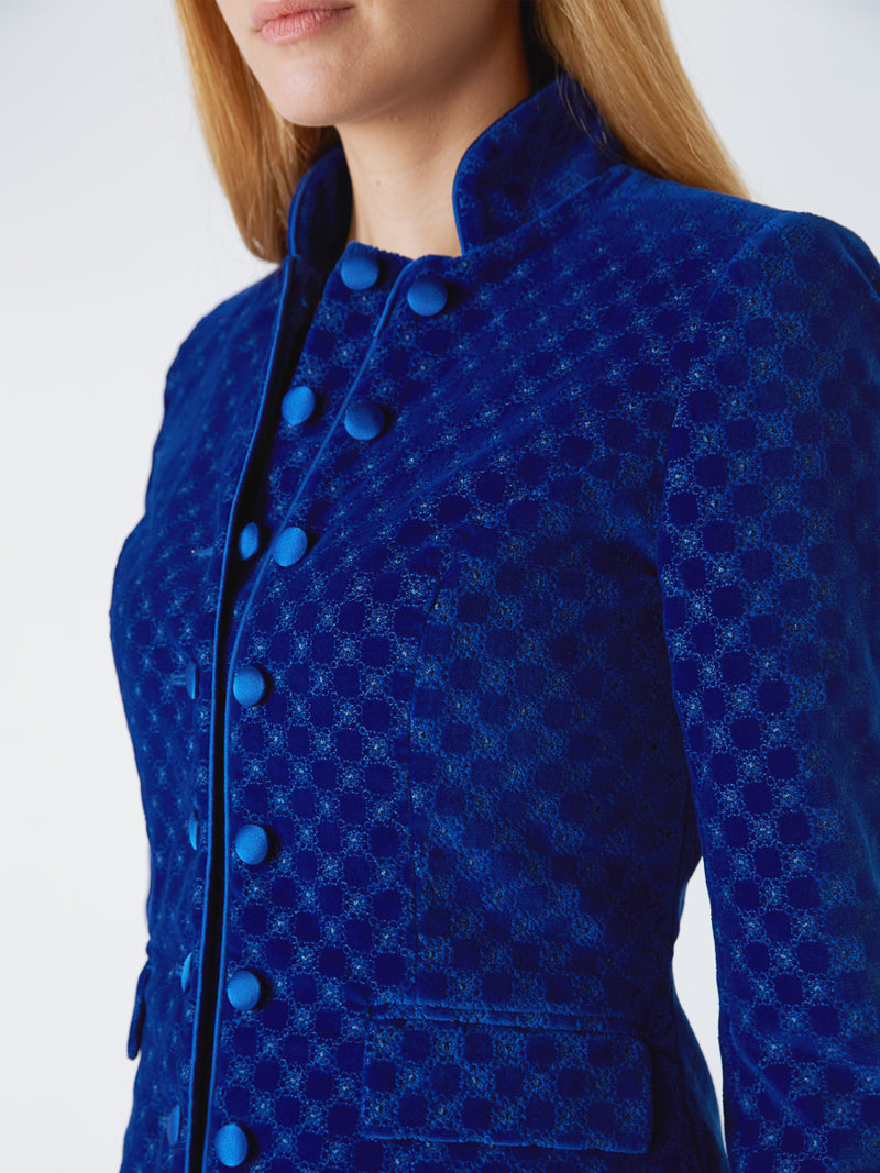 Waterloo Jacket Cobalt Blue Dean Cotton Velvet