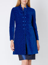 Cobalt Blue Dean Cotton Velvet Waterloo Jacket