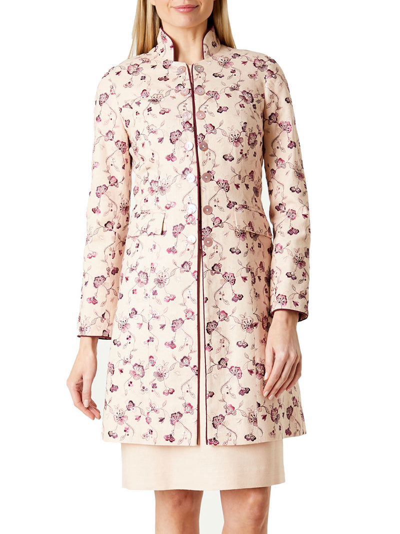 Waterloo Jacket Blush Molyneaux Silk Tasar