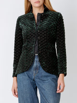Trafalgar jacket Dark Green Fletcher Silk Velvet