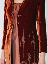Fox Brown Delamere Silk Velvet Eton coat