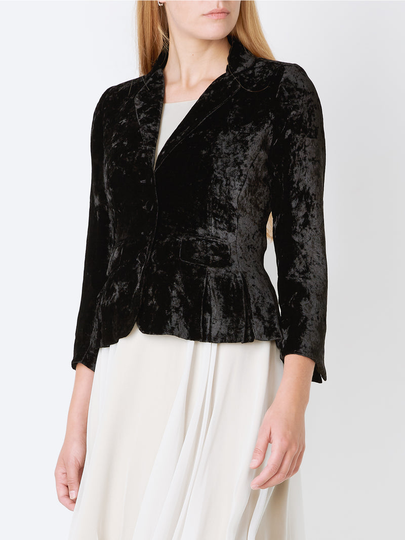 Cassie Jacket Black Plain Velvet