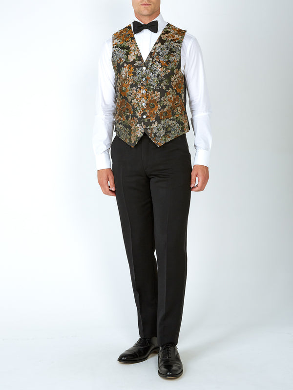 Olive Chatsworth Single-Breasted 6-Button Waistcoat
