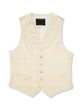 Ivory Albert Silk Single-Breasted 6-Button Waistcoat
