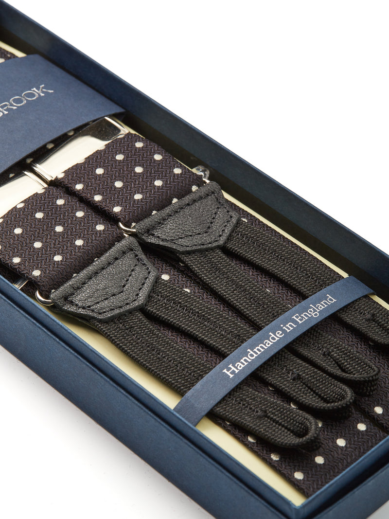 Black Pickwick Silk Braces