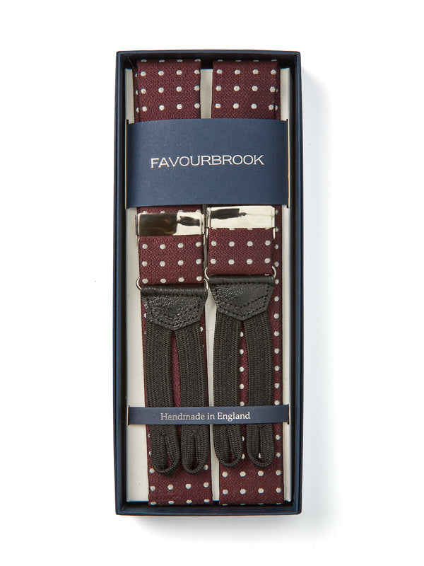 Burgundy Pickwick Silk Braces