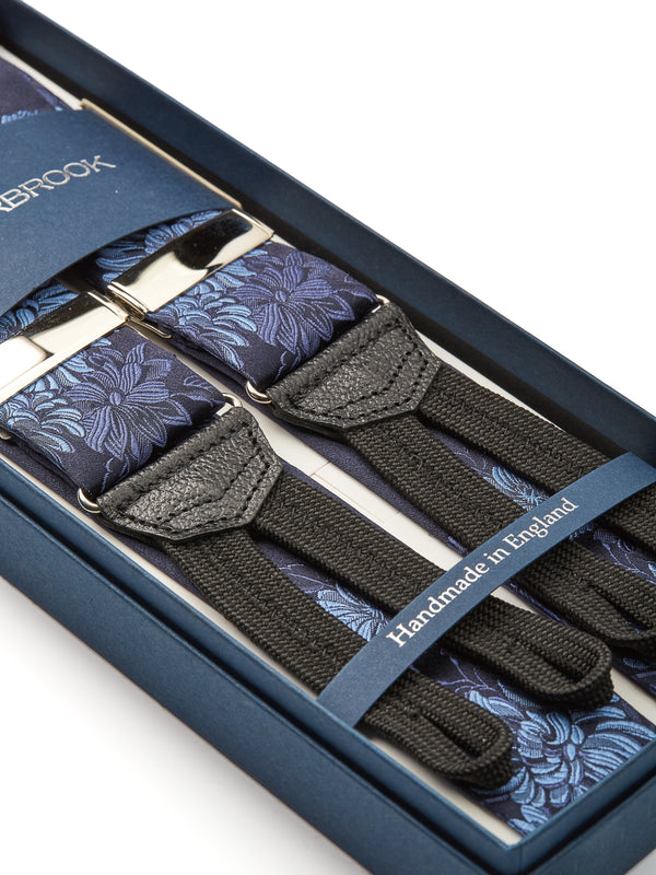 Blue Bourgainville Silk Braces