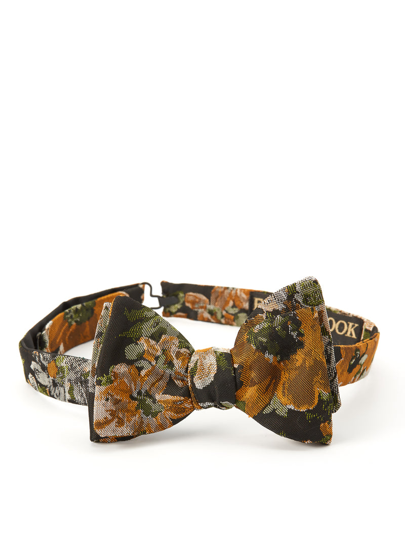 Olive Chatsworth Silk Bow Tie