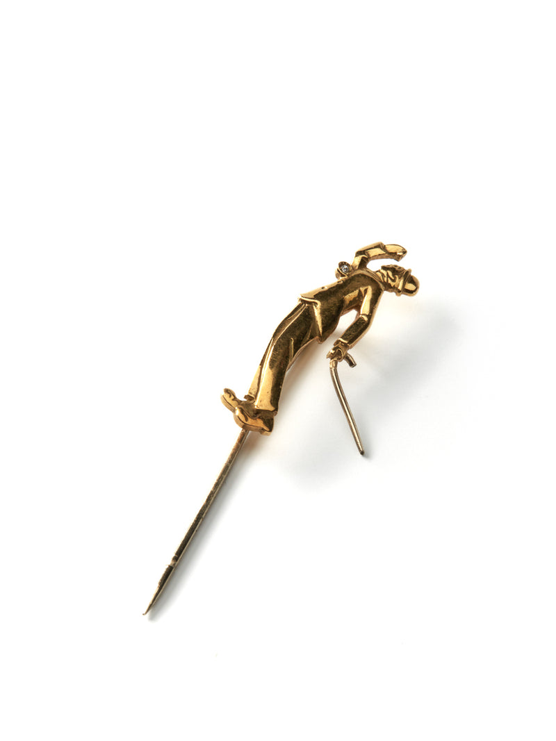 Gold Cbc29 Gold Tie Pin