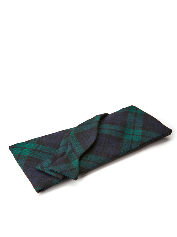 Blackwatch Tartan Wool Flat Cummerbund Set