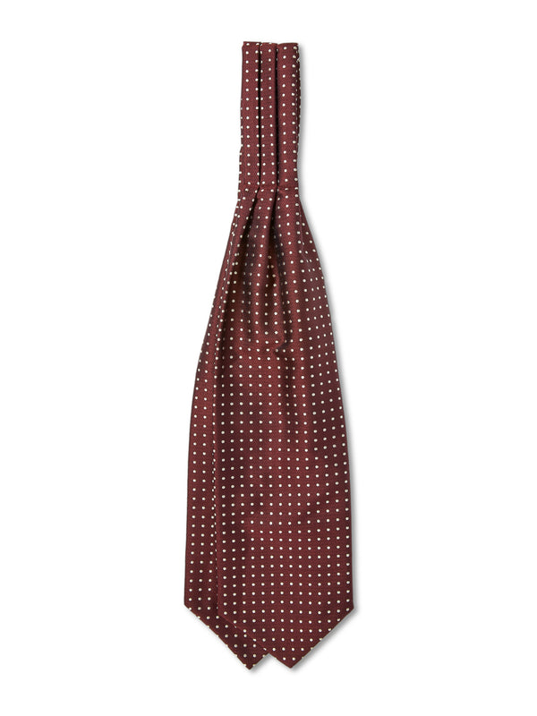 Burgundy Pickwick Silk Cravat