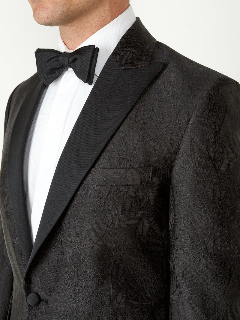 Black Botanics Silk Dinner Jacket