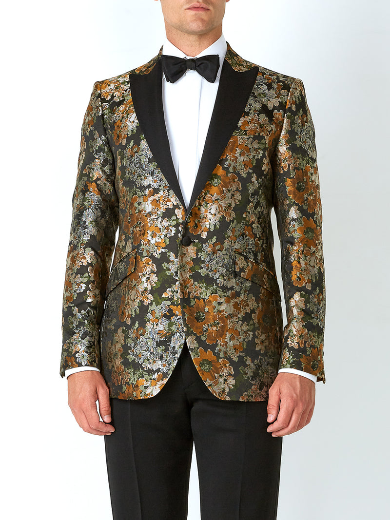 Olive Chatsworth Silk Dinner Jacket