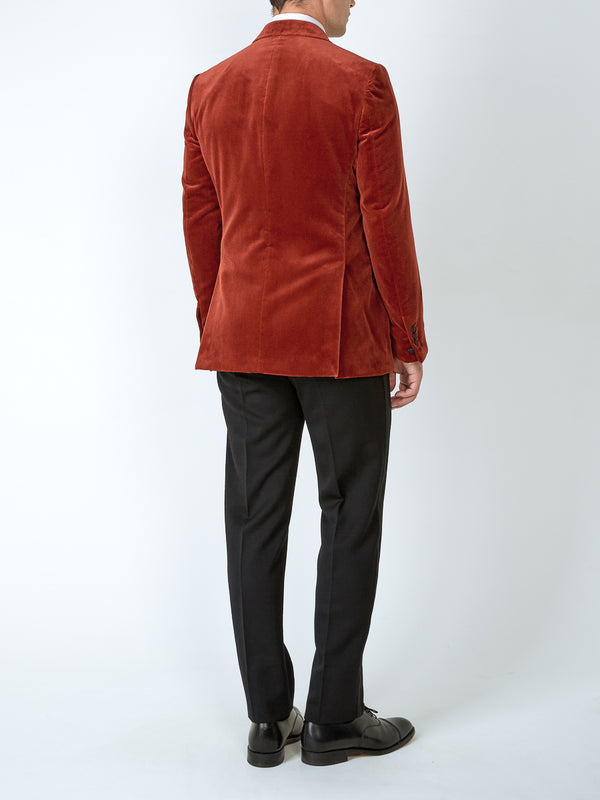 Rust Velvet Cotton Dinner Jacket