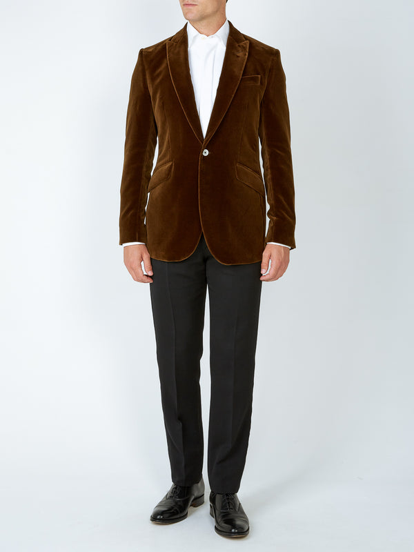Cardamom Velvet Cotton Newport Jacket