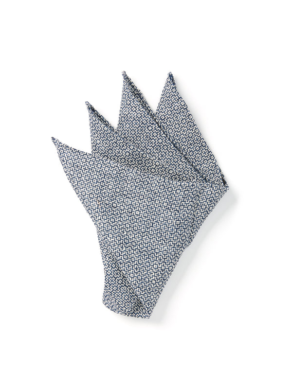 Blue Culcross Linen Pocket Square
