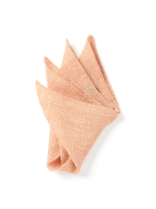 Coral Culcross Linen Pocket Square