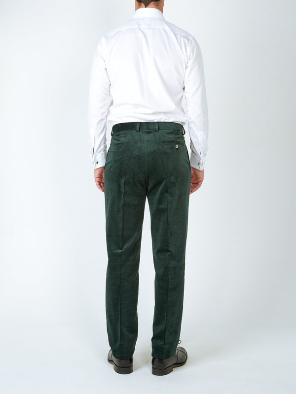 Racing Green Penton Cord Cotton Windsor Trouser