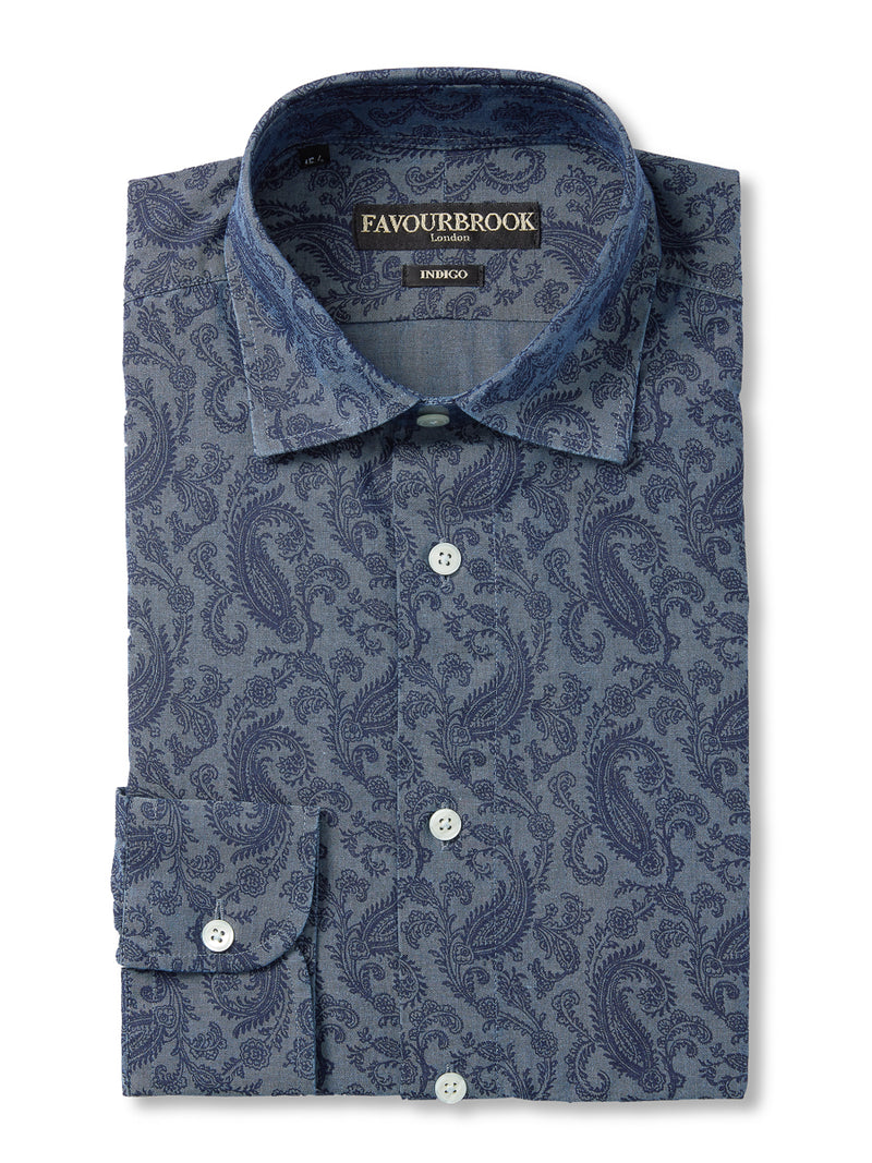 Indigo Hydra Cotton Oratory Shirt