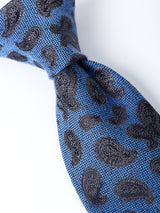Cobalt Durlston Paisley Silk/wool Tie