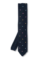 Midnight Multi Bellagio Knitted Silk Tie