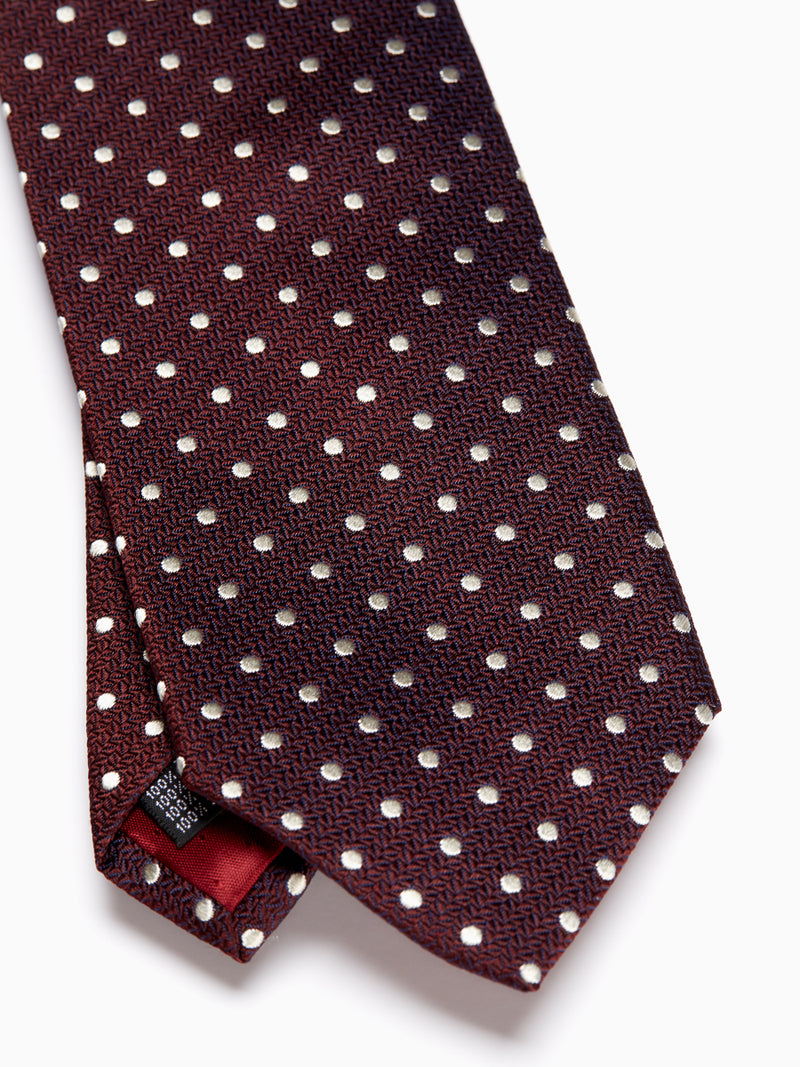Burgundy Pickwick Silk Tie
