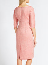 Emily Dress Coral Red Crease Resist Marle Linen