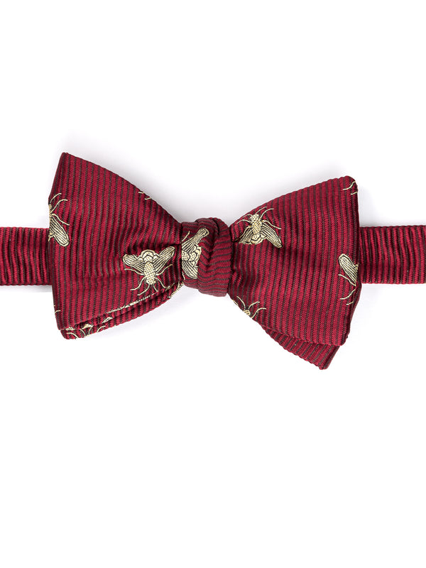Red Bees Silk Bow Tie