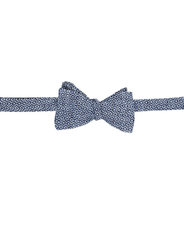 Blue Culcross Linen Bow Tie