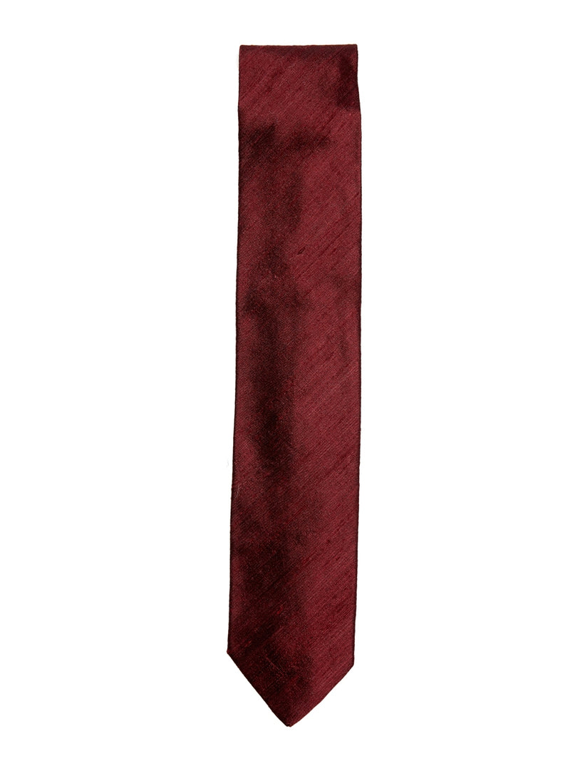 Claret Douppion Plain Silk