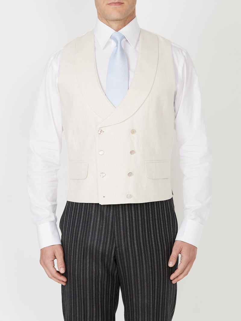 Parade Cream Double Breasted Waistcoat