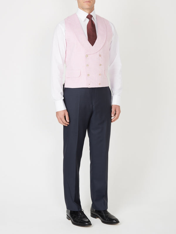Parade Pink Double Breasted Waistcoat