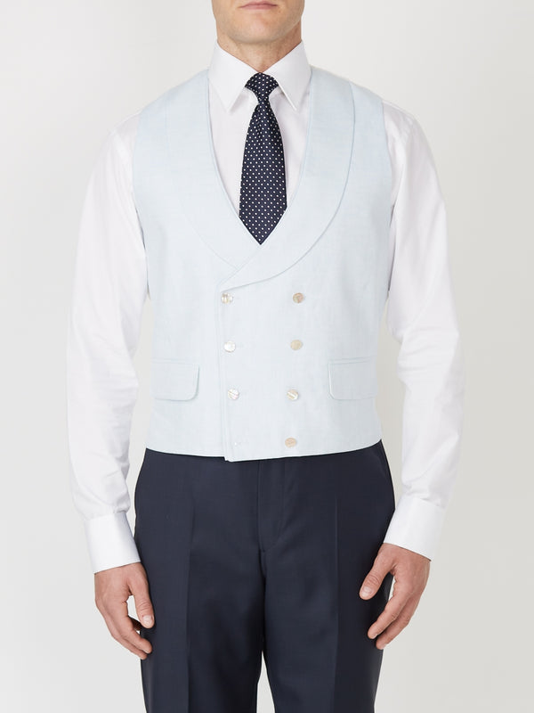 Parade Sky Double Breasted Waistcoat
