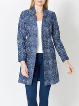 Carvelle Jacket Navy Bern Crease Resist Linen