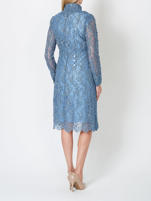 Blue Rome Embroideredtule Tule Westminster Coat