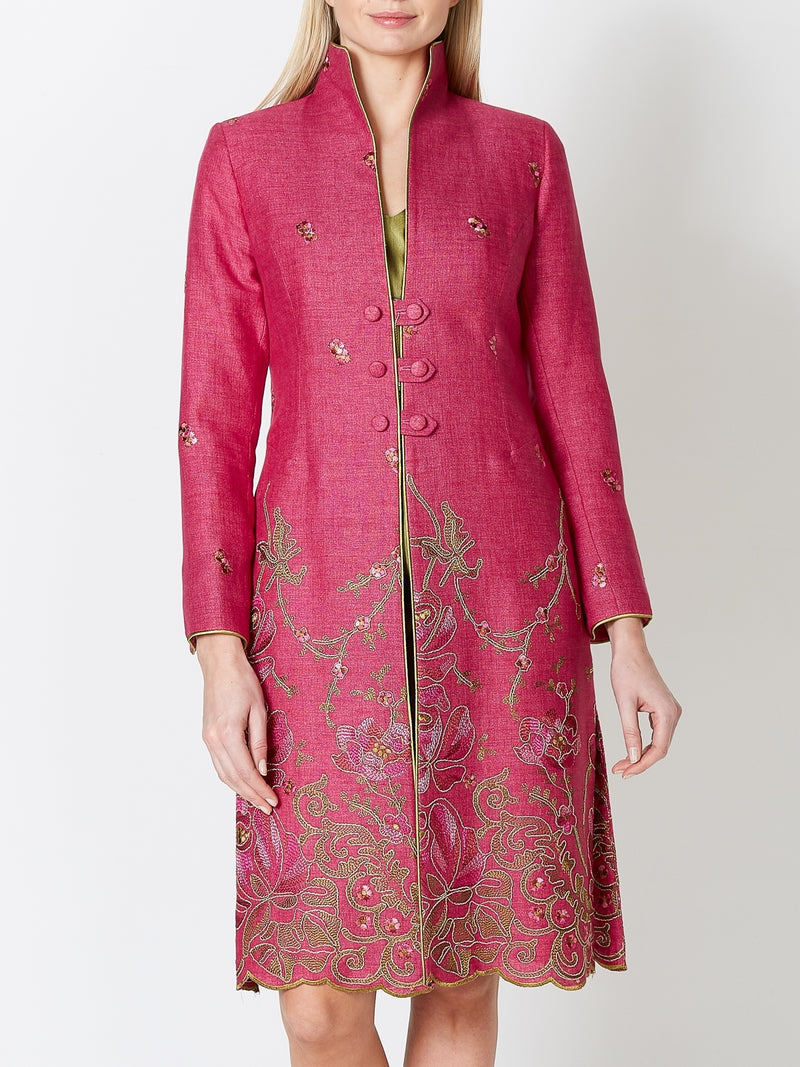 Westminster Coat Peony Lincoln  Crease Resist Linen