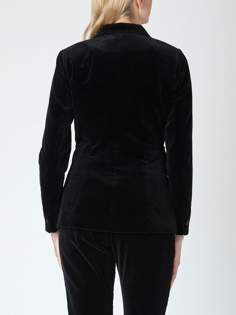 Dinner Jacket Black Plain Velvet