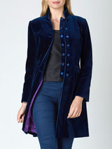 Waterloo Jacket Marine Blue Plain Cotton Velvet